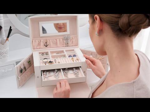 Tectake - Elegant jewellery box Boîte à Bijoux Smykkeboks Scatola portagioie Sieradendoos