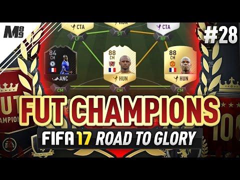 FUT CHAMPIONS ELITE   LEGEND VIEIRA TO THE RESCUE?!   FIFA 17 FUT CHAMPIONS RTG #28