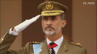 12 octubre 2018. Homenaje a la bandera de España al cumplirse sus 175 años