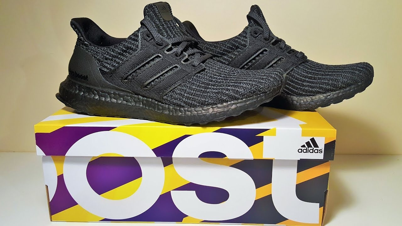 7d241e5d3c4a62 Adidas Ultraboost 4.0 Triple Black Trainers Unboxing and Review ...