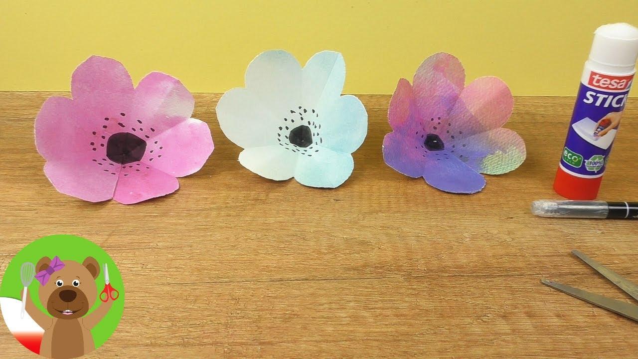 Wiosenne Kwiaty Y Papieru Diy Dla Dzieci Kwiaty Z Papieru 3d Youtube