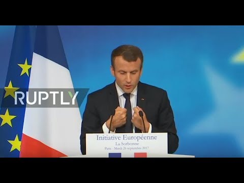 LIVE: Macron unveils his plan for Europe at the Sorbonne in Paris