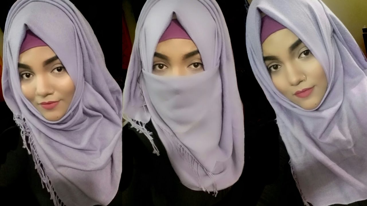 Simple and Easy Hijab Tutorial with Neqaab for School