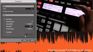 Maschine 1.8 Tips - Timestretch and Pitchshifting Overview