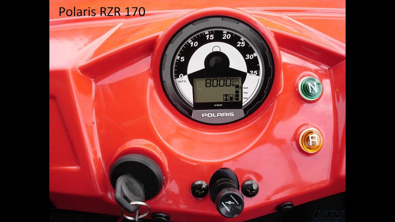 Razor Side By Side >> Polaris 170 RZR TOP SPEED - YouTube