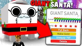 *SECRET* GIANT SANTA PET MADE IN ROBLOX PET SIMULATOR *RAREST PET* (Update Theory)