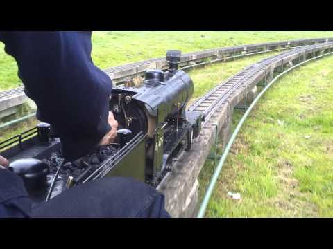 Full HD Front View Of Ride On Model Steam Train Railway in Mote Park Maidstone