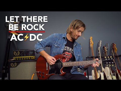 ACDC Let There Be Rock Guitar Lesson Tutorial