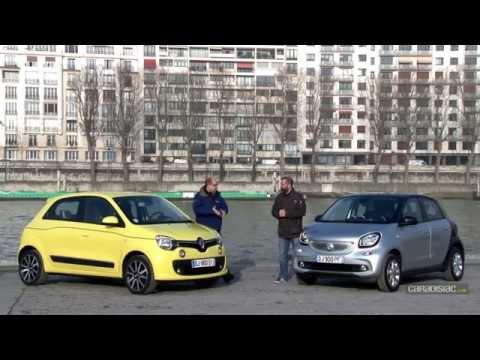 Comparatif Renault Twingo vs Smart Forfour