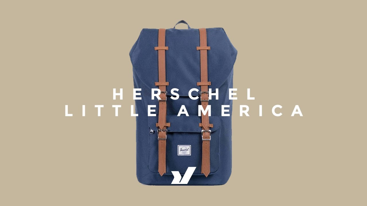 The Herschel Little America Backpack - YouTube 51241be01ba8b