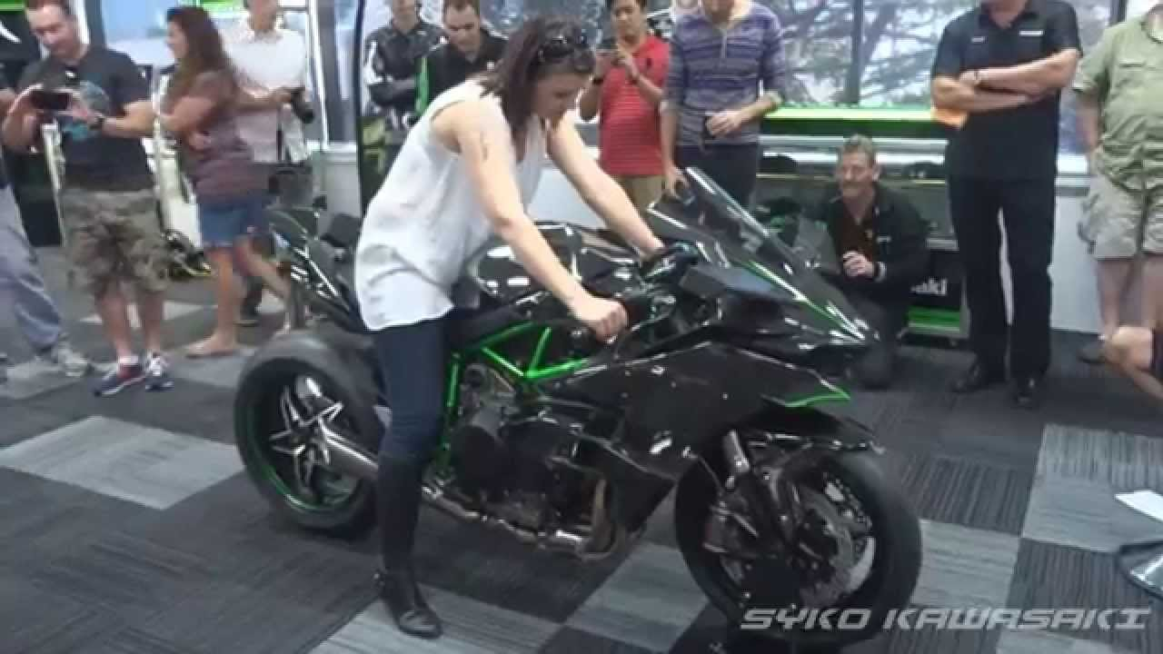 Kawasaki H2r Track Version Exhaust Sound Youtube