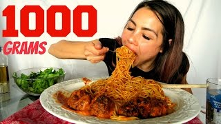 How to make Meatballs & Spaghetti + Pasta sauce from scratch! Mukbang 먹방 15k Giveaway thumbnail