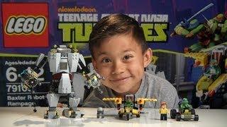 BAXTER ROBOT RAMPAGE! - LEGO Teenage Mutant Ninja Turtles Set 79105 - Time-lapse Build & Review