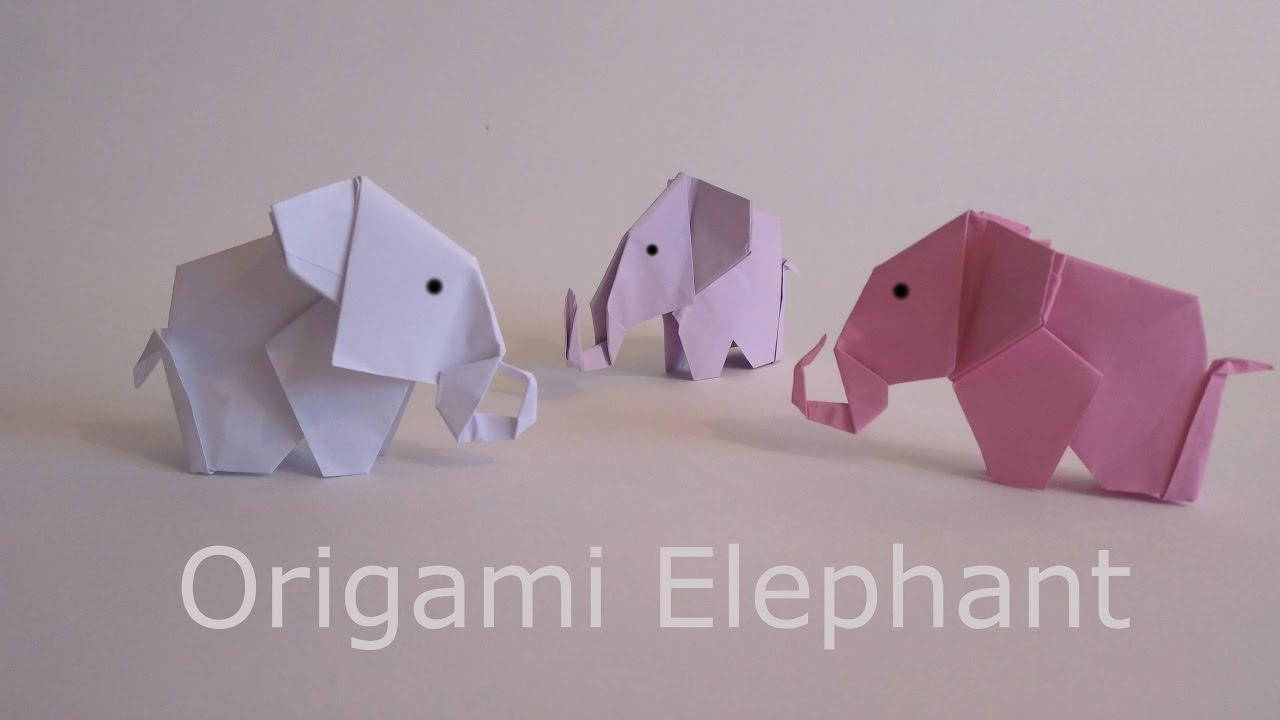 origami how to make a paper elephant youtube