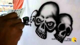 Tantoyuca, Dibujando playeras con la Técnica de aerografo  - Dante -
