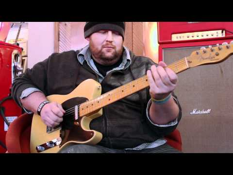 Chris Heart plays a 1952 Fender Telecaster at Rumble Seat Music Southwest
