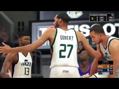 NBA 2K17 My Career Utah Jazz vs Phoenix Suns