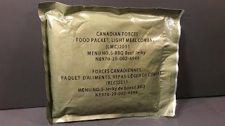 2011 Canadian Light Meal Combat LMC Meal Ready to Eat Lightweight MRE Taste Test Army Food Review