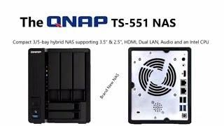Qnap TS-551-4G Desktop NAS 24TB 5-Bay (3x 3 5inch , 2x 2 5
