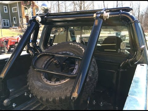 How to Make a Custom Roll Bar/Back Rack (1996 Ford F250 ...