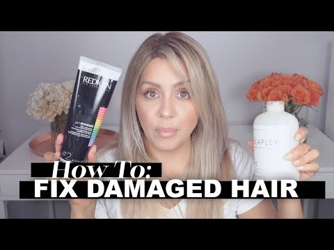 How to Fix Damaged Hair - Products + Tips