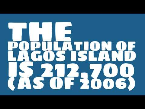 What is the population of Lagos Island?