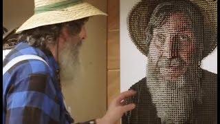 Los increíbles cuadros 3D con tornillos de Andrew Myers