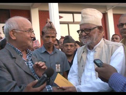 KP Oli met PM Sushil Koirala