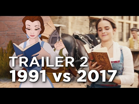 Thumbnail: Beauty and the Beast Trailer 2 - 1991 vs 2017 Comparison/Side by Side