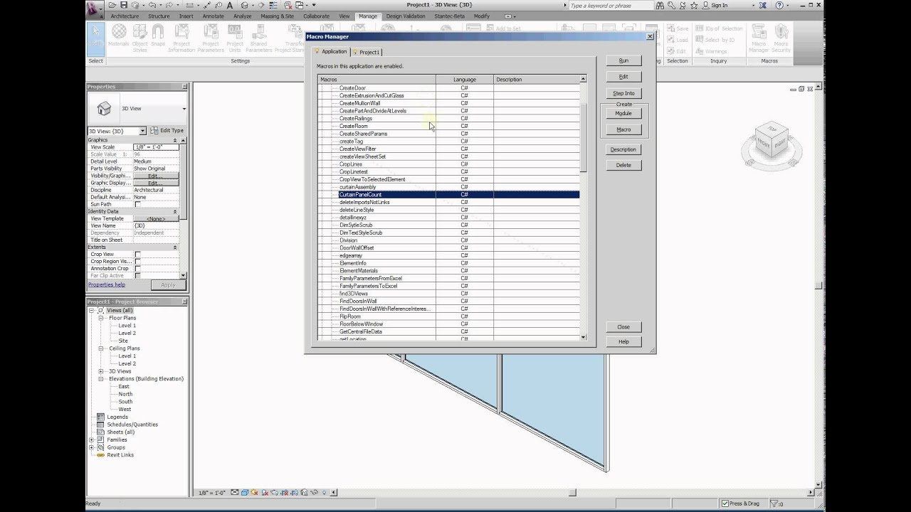 Using the Revit API to collect and count Curtain Panels