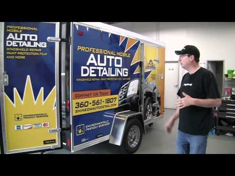 9800 Mobile Auto Detailing Trailer With Steve