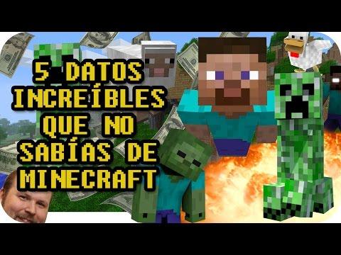 5 DATOS INCREÍBLES QUE NO SABÍAS DE MINECRAFT - TOP