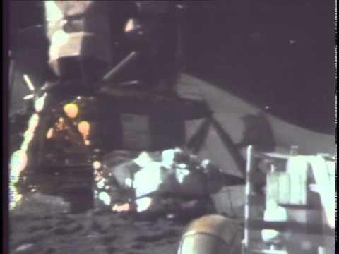 NASA - Apollo 15 - James Irwin climbing the LM ladder