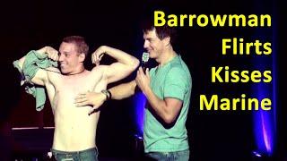 John Barrowman & the Marine a touch, kiss, tussle? @ Phoenix Comicon