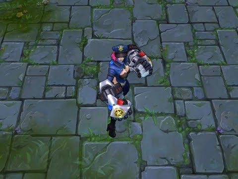 Officer Vi Gameplay Preview - New Skin Spotlight! (LoL / League of Legends)