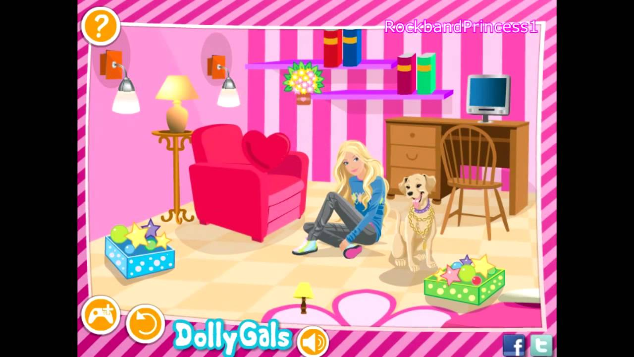 barbie games - decorate barbie's bedroom game - barbie house