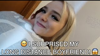 I SURPRISED my LONG DISTANCE BOYFRIEND, Then SLAPPED HIM for PRANKING ME!