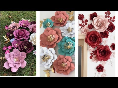 DIY paper flowers for home decor