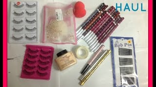 aliexpress haul - mostly beauty product Beauty blender, Eyelashes, Lippies, Eyeliner, Brow pencil