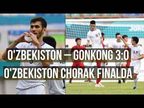 O'zbekiston chorak FINALda!!! O'zbekiston – Gonkong 3:0. Osiyo o'yinlari.