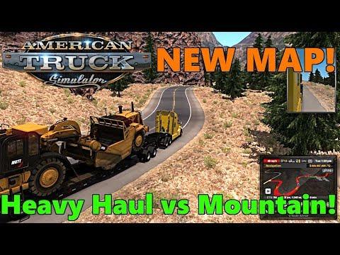 American Truck Simulator | NEW Mountain Roads MAP | Part 2 | HUGE Scraper vs STEEP ROADS!