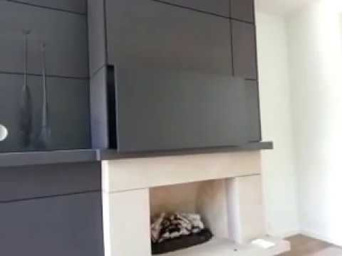 Hidden Vision Built In Flip Around Hidden Tv Mount Youtube