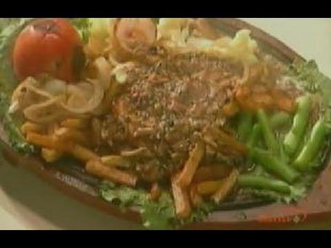 Chicken steak sizzler sanjeev kapoor khana khazana youtube forumfinder Gallery