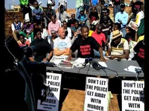 Marikana wildcat strike leader's meeting - Mametlwe Sebei of the DSM
