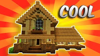 MINECRAFT: How To build A survival House | Best survival House 2016 -2017 ( Hd ) Tutorial