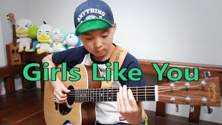 Girls Like You (Maroon 5) _ Fingerstyle guitar arranged & cover by Sean Song Video