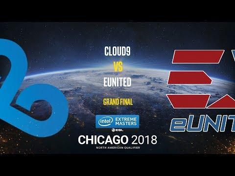 Cloud9 vs eUnited - IEM Chicago 2018 NA Quals - Grand final - map4 -  de_cache [Anishared]