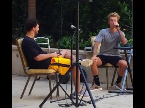 Justin Bieber gives mini concert singing at Montage hotel in Beverly Hills - September 16 2017