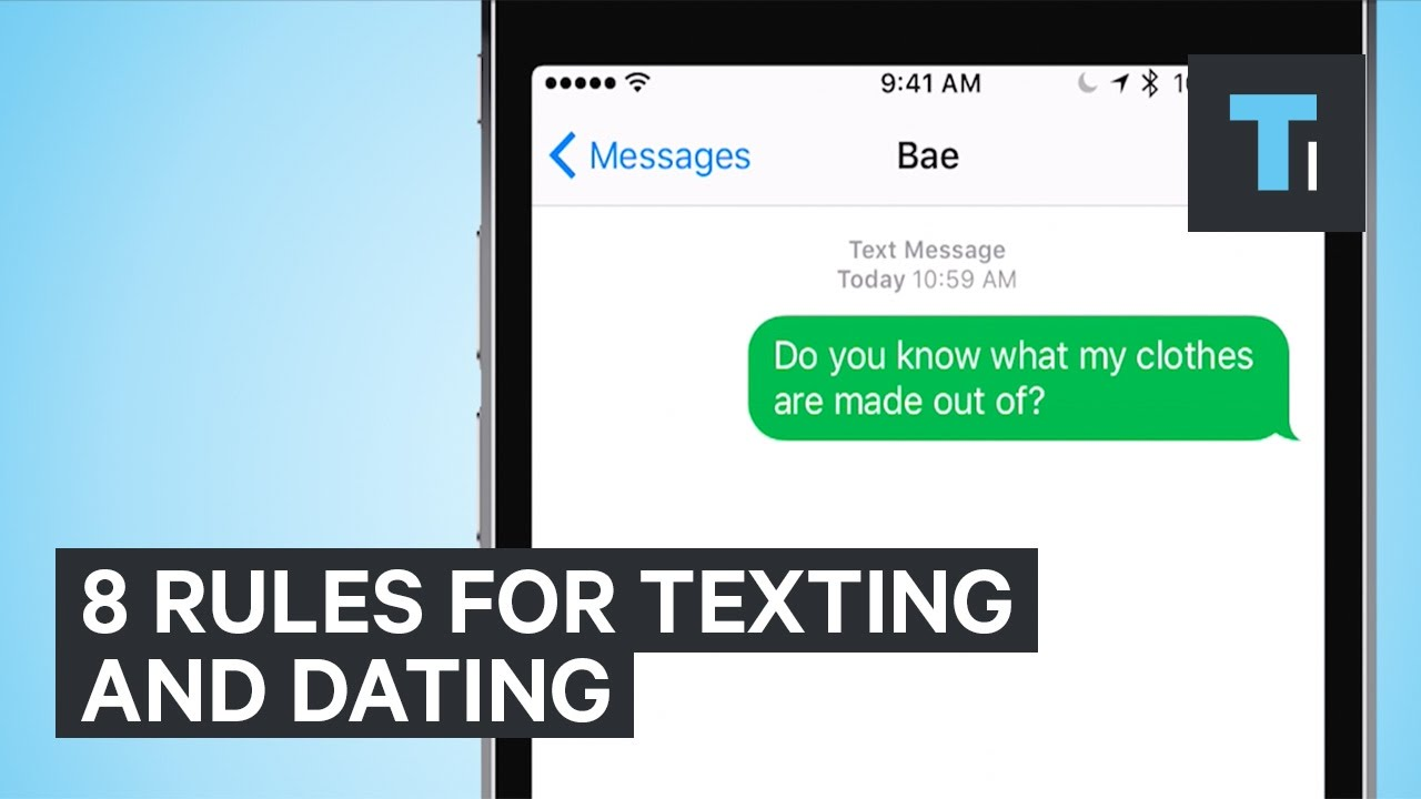 Text dating rules