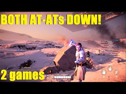 Star Wars Battlefront 2 - Both AT-ATs couldn't get past Obi! Emperor tries to take Tatooine himself! thumbnail
